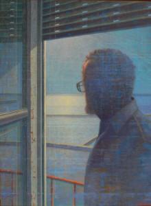controluce (autoritratto ) 2003 olio su tavola cm 80x60 copia