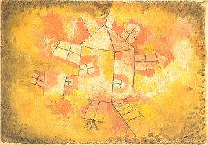 Revolving House,Paul Klee,olio su tela, 1921.
