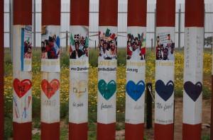 .Muro di frontiera dalla parte messicana (foto Giglioli)
