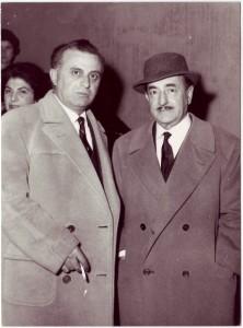 Luigi Fiorentino con Salvatore Quasimodo-anni -'50