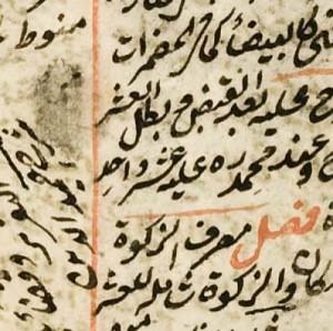 particolare di un manoscritto arabo
