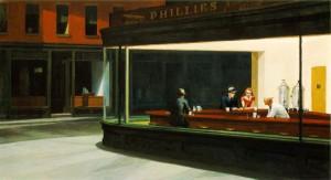 Edward Hopper, Nighthawks, 1942, Art Institute,  Chicago