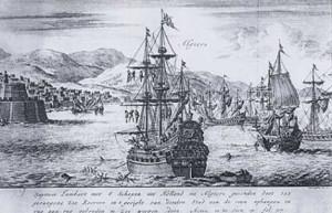 Incisione di van Luyken in Histoire-de-la-Barbarie, fine-sec.XVII