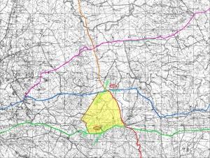 carta topografica territorio di marsala