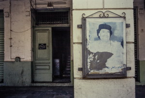 Tripoli, manifesto con Gheddafi
