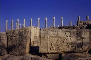 Cartiglio dell'abitato di Leptis