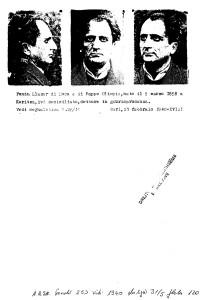 Foto segnaletiche di Llazar Fundo - Polizia di Bari 20  Febbraio1940 Archivio