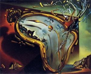 Montre molle au moment de sa première explosion, di Salvador Dalì,1954