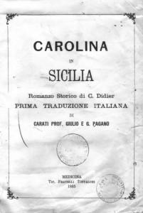 Carolina in Sicilia (frontespizio dell'edizione italiana)