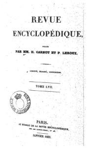 Revue Encyclopédique (gennaio 1833)