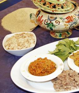 Ingredienti per la preparazione del cuscus (foto Cuttitta)