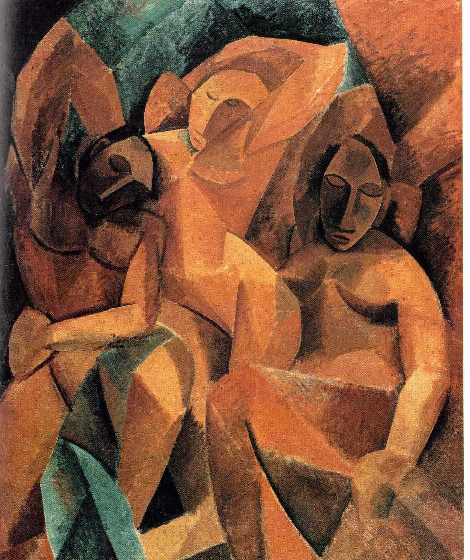 P. Picasso - Tre Donne - 1908