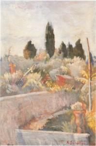 Veduta Scerbi,1942 olio su tela. (collezione privata)