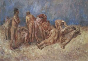 Fausto Pirandello, La spiaggia