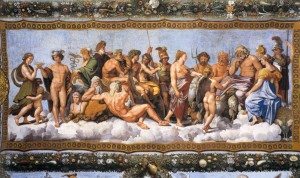 Raffaello Sanzio,Concilio degli dei