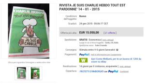 Inserzione su eBay del 14.1.2015