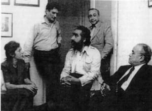 Con Enzo ed Elvira Sellerio,Sciascia