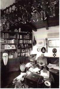 Nel suo studio (foto Minnella)