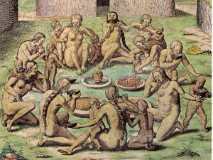 Théodore De Bry,Scene di Cannibalismo