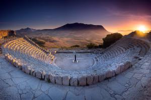 Veduta del Teatro Antico di Segesta