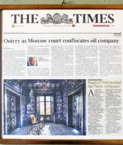 Un articolo del Times