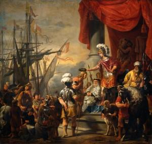 F. Bol,Enea alla corte del re