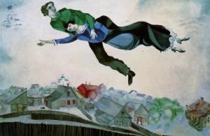 Chagall,Sopra la città,1918