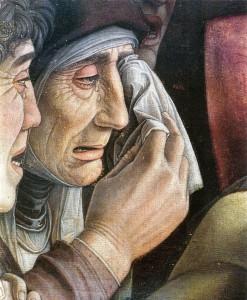 Mantegna, Cristo morto (particolare), 1475