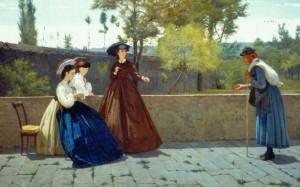Silvestro Lega,L'elemosina,1864