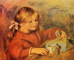 P.A. Renoir - Claude Renoir mentre gioca (1906)