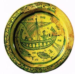 ceramica smaltata, sec.XIII, Bardo Tunisi