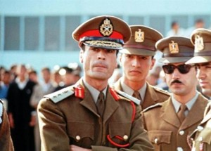 Gheddafi agli inizi della sua carriera