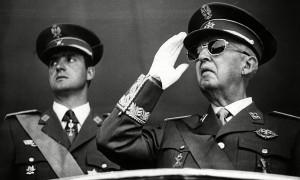 Francisco Franco con Juan Carlos di Borbone