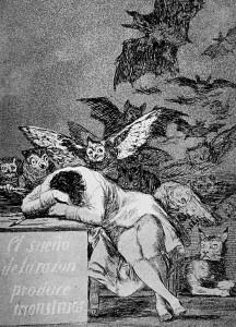 Goya:il sonno della ragione produce mostri