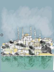 Istanbul, disegno di F. Schiavo