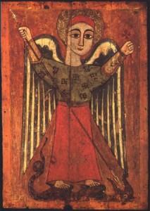 Arcangelo Michele, arte copta, sec. XVII