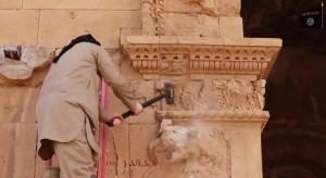 Distruzione del tempio a Hatra, Iraq