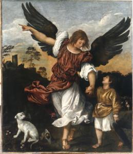 Arcangelo Taffaele col piccolo Tobia