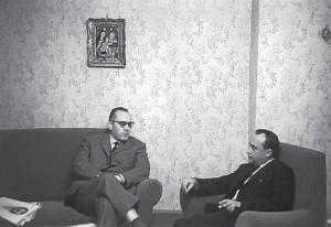 Stefano Vilardo e Leonardo Sciascia,a Palermo all'inizio degli anni Sessanta