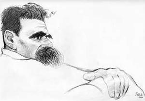 Nietzsche in un disegno di T. Pericoli