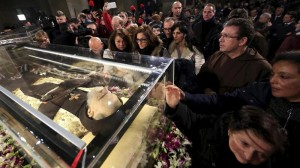 La salma di Padre Pio in Vaticano