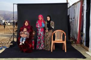 famiglia siriana al campo profughi di Bekaa, in Libano, Foto Mitidieri