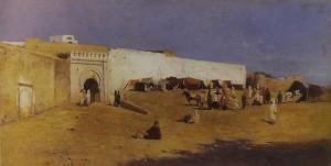 orta di Tangeri, olio su tela, 1890