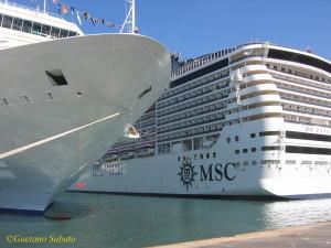 Navi da crociera nel porto di Palermo - 2010 (foto Sabato)