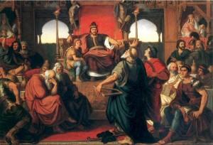 The feast of Attila, del pittore ungherese Mór Than, ispirato al racconto di Prisco