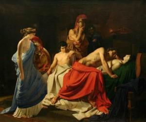 Achille piange la morte di Patroclo, di Niklai Ge, 1855