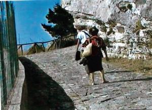 Pellegrini sulla via del Santuario di Alcamo (foto Lucchese)