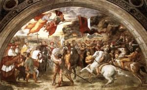 Incontro tra Leone il Grande e Attila, Affresco, 1514, Vaticano