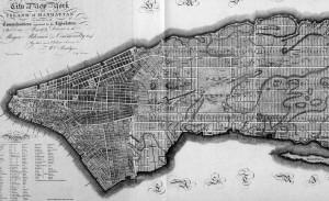 Plan del 1811, la forma urbis