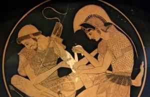 Achille medica Patroclo, coppa, ca 500 a.C.